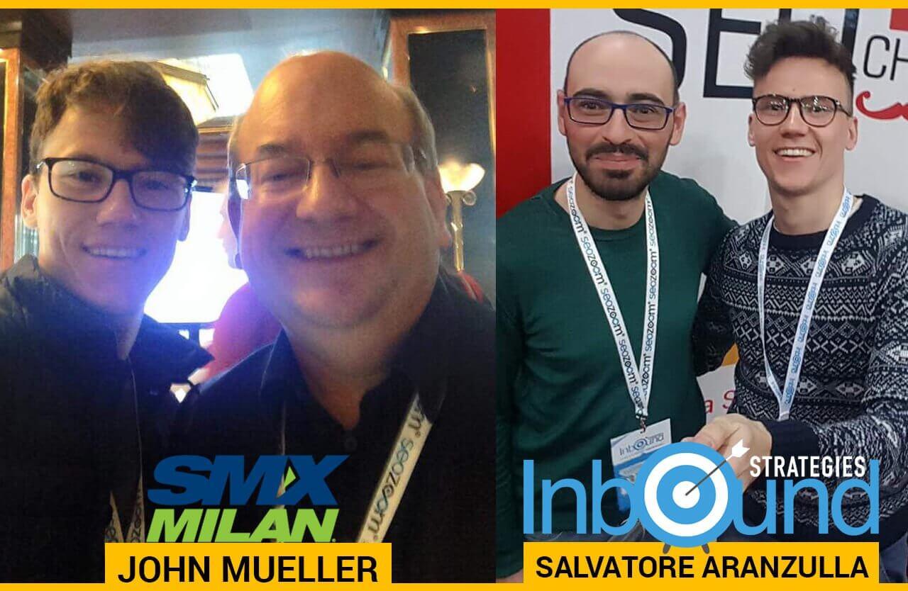Salvatore Aranzulla e John Mueller con Alessandro Caira