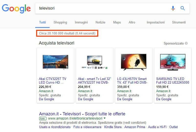 Keywords Semplici Risultati Totali Google Alessandro Caira
