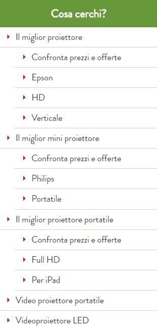 Esempio Struttura Sezione Proiettore Alessandro Caira